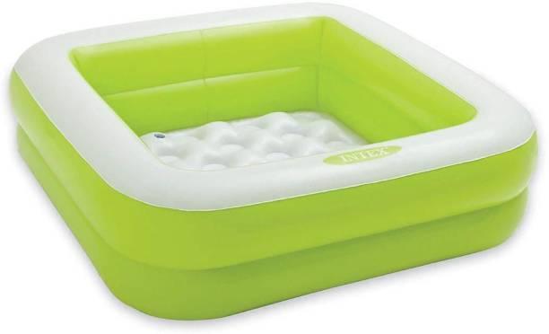 Lakshita Enterprise Inflatable Play Box Pool for kids (green ) Drop-in Bathtub