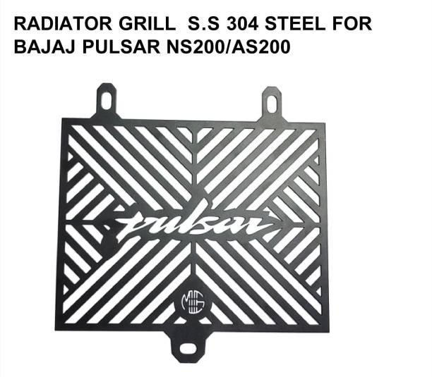 imad RADIATOR GRILL S.S.304 STEEL FOR PULSAR NS200/AS200 Bike Radiator Guard