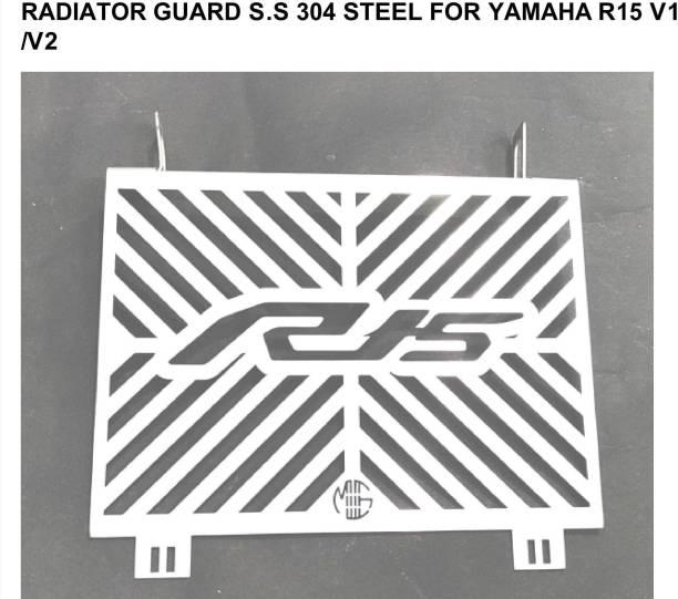 imad RADIATOR GUARD S.S 304 STEEL FOR YAMAHA R15 V1/V2 Bike Radiator Guard