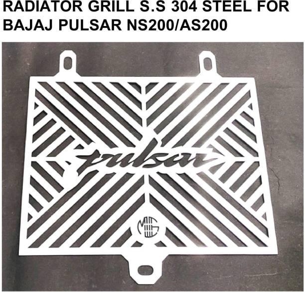 imad RADIATOR GRILL S.S304 STEEL FOR PULSAR NS200/AS200 Bike Radiator Guard