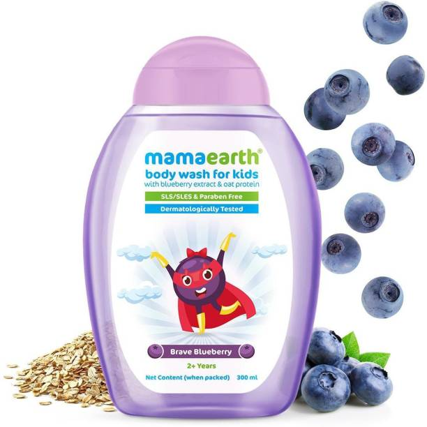 MamaEarth Brave Blueberry Body Wash For Kids with Blueberry & Oat Protein