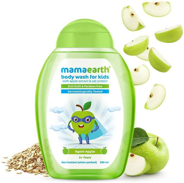 MamaEarth Agent Apple Body Wash for Kids with Apple & Oat Protein