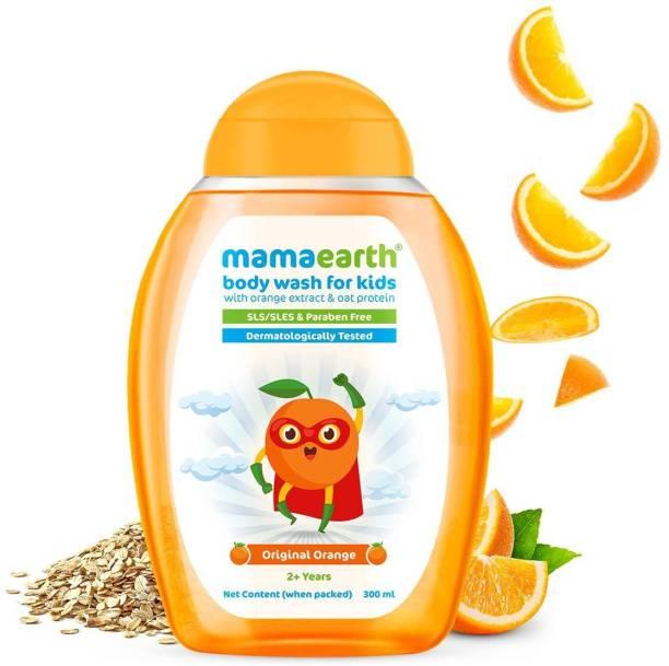 MamaEarth Original Orange Body Wash For Kids with Orange & Oat Protein