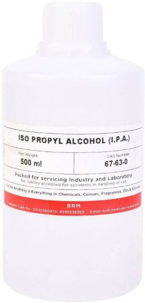 BRM Chemicals Iso Propyl Alcohol - 99.99% Pure Rubbing Alcohol For Soap Making, DIY Beauty, Electronics & Surgical Use Disinfectant & Surface Cleaning - 500 Grams for Laptops