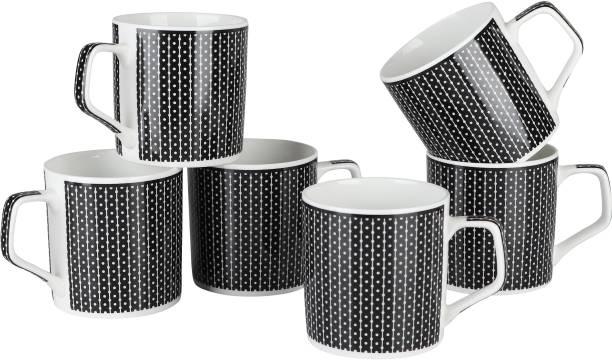 Pearl Pack of 6 Bone China Elite Fine Tableware Bone China Tea Cups Set of 6