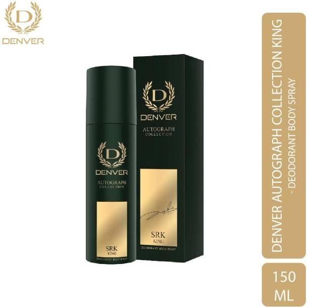 DENVER SRK King Deodorant Autograph Collection- 140ml Deodorant Spray  -  For Men