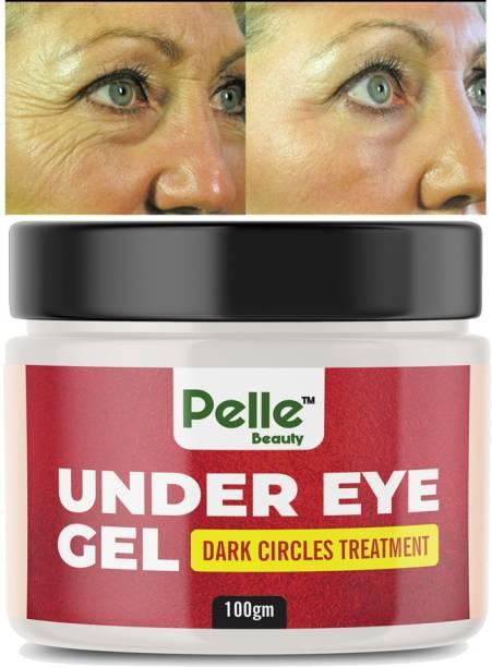 Pelle Beauty Under Eye gel__ for Dark Circles __Dark Spot Treatment __Puffiness with Green Tea, Lemon, Green Apple_100gm