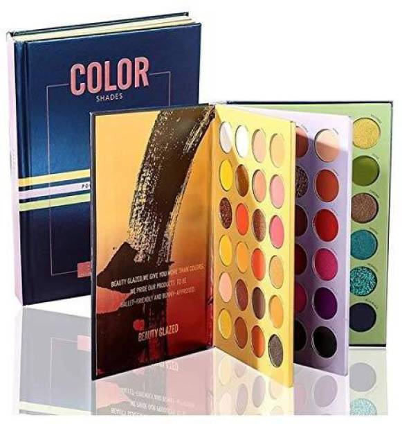 Beauty Glazed 72 Color Press Eyeshadow Palette Book Shadow Palette Glitter Matte Shimmer Natural Highly Pigmented Professional Eye Shadow Powder Long Lasting Waterproof Make Up Pallet 70 g