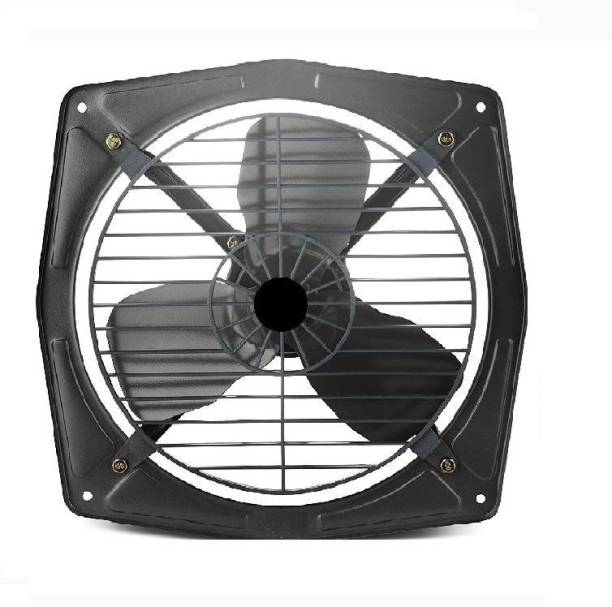 olles Fresh Air Copper Winding High Speed Metal Exhaust Fan for Kitchen and Bathroom, Office , 12-inch, Black,Grey G-25 300 mm Energy Saving 3 Blade Exhaust Fan