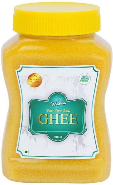 Hastha Pure Cow Ghee 500 ml Plastic Bottle