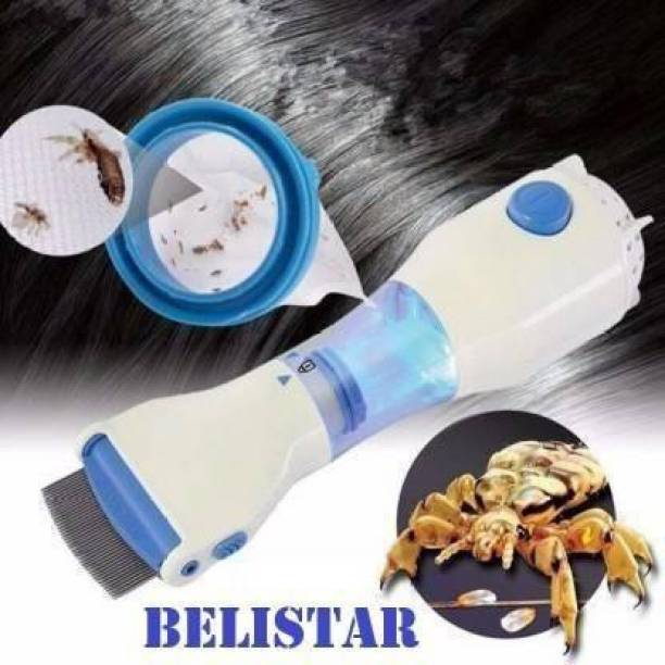 BELISTAR V Comb Capture 4 Filter Trap Head Lice And Eggs Removed From The Hair,Allergy and Chemical Free Head Lice Treatment,Electrical Head Lice Comb.240V Electrical Head Lice Comb...