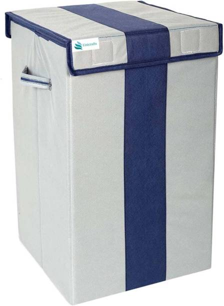 Unicrafts 68 L Grey, Blue Laundry Basket