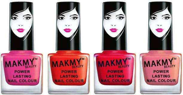MAKMY BEAUTY Exlusive Collection Premium Quality Nail Polish Set Of 4 MBNP4P164 Multicolor