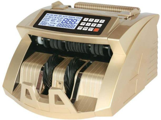SWAGGERS Currency/Note/Money Counting Machine with Fake Note Detector Heavy Duty Machine For All New and Old Notes 10,20,50,100,200,500,2000- Gold Pro Note Counting Machine