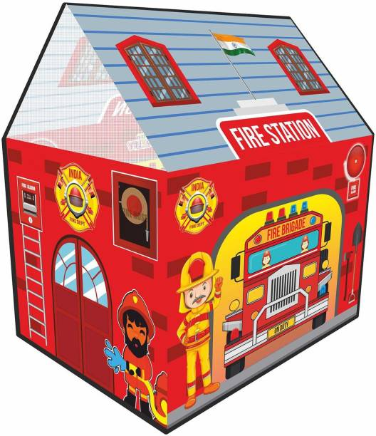 Miss & Chief Kids Fire Tent Jumbo Size Light Weight Multicolor Play Tent House
