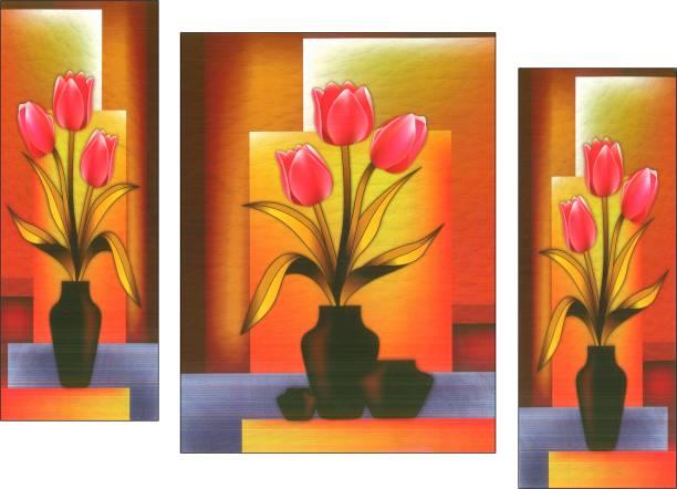 JSP set of 3 pes.Flowers Digital Reprint 12 inch x 18 inch Painting