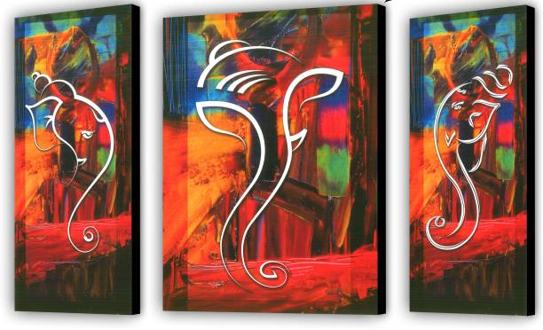 JSP set of 3 pes.Ganesh ji Digital Reprint 12 inch x 18 inch Painting