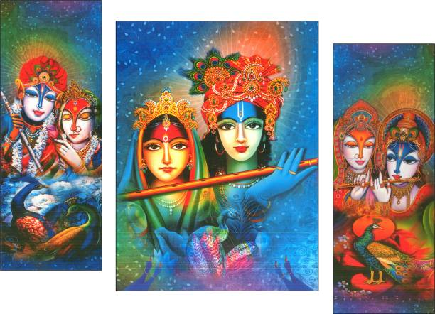 JSP set of 3 pes.Radha Rani Digital Reprint 12 inch x 18 inch Painting
