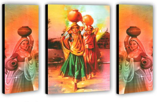 JSP set of 3 pes.Woman Modern Art Digital Reprint 12 inch x 18 inch Painting