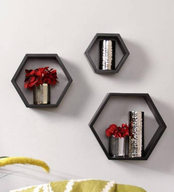 Techhark MDF (Medium Density Fiber) Wall Shelf