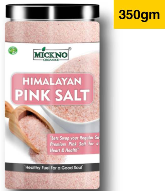 mickno organics 350 gm Himalayan Pink Rock Salt FINEST POWDER Organic for weight loss & Daily Healthy Cooking ( Imported ) Himalayan Pink Salt