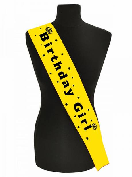 Style Secrets Yellow with Black Letters Birthday Sash
