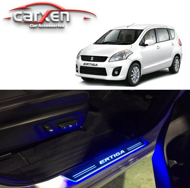 carxen Car Door Foot Step Led Sill Plate With Mirror Finish for compatible with Maruti Suzuki Ertiga (Set of 4PCS, Blue) Door Sill Plate Door Sill Plate