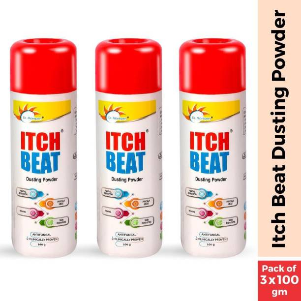 Dr. Morepen Itch Beat Antifungal Dusting Powder Pack of 3, 100gm Each