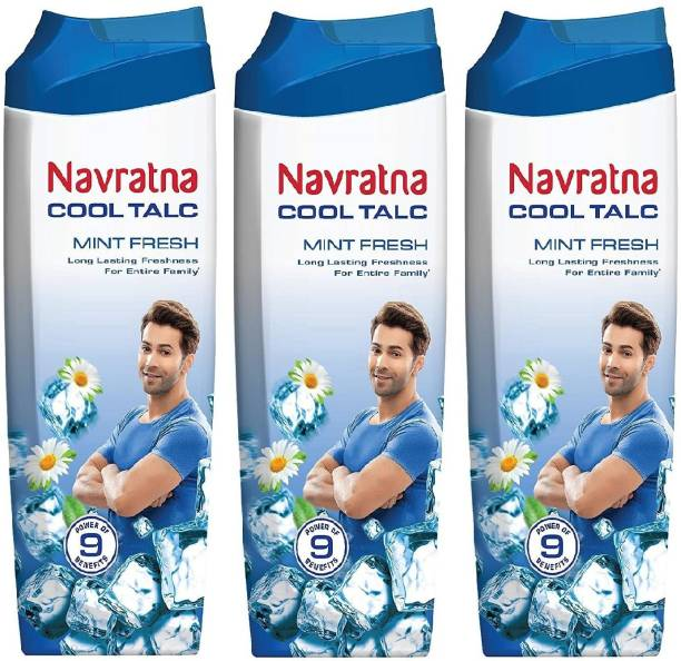 Navratna Cool Talc Mint Fresh - 3 x 100 g Packs