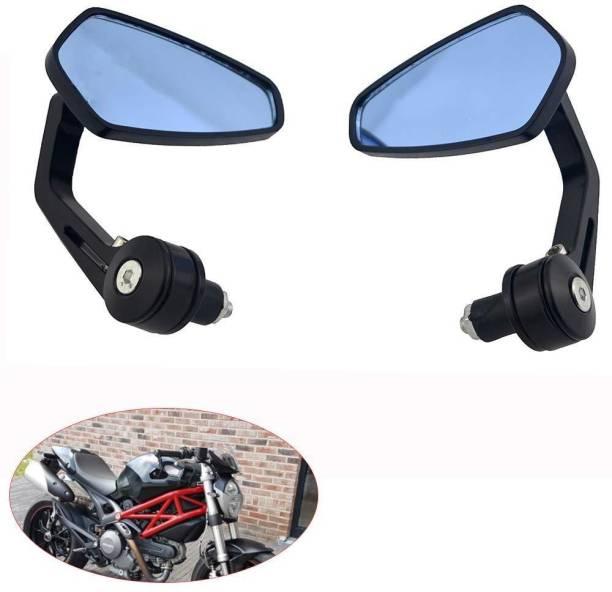 GTRIDE Manual Rear View Mirror, Driver Side For Bajaj, Hero, Honda, KTM, Piaggio, Royal Enfield, Suzuki, TVS, Yamaha Universal For Bike