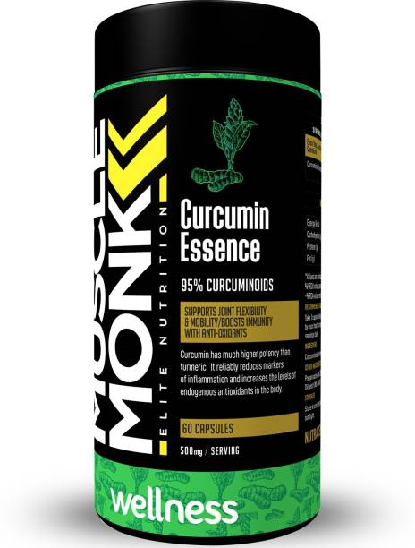 MuscleMonk Curcumin Essence   Curcumin Extract 95%   60 Capsules