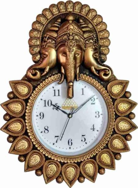 GS creation Analog 24 cm X 33 cm Wall Clock