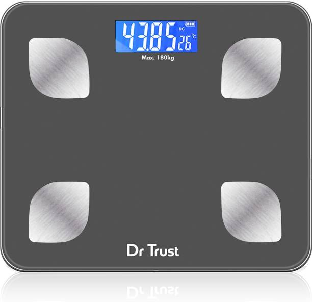 Dr. Trust (USA) Model-505 Bluetooth Digital Smart Fitness Body Fat Composition Analyzer BMI Weight Machine For Human USB Electronic Rechargeable Weighing Scale