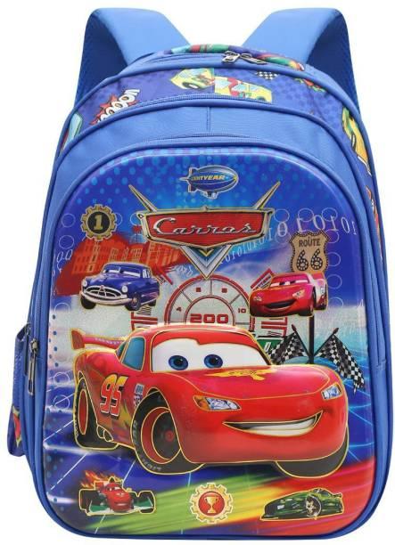 BLOSSOM SB029_04B School Backpack Car Design 3rd Standard onward Waterproof School Bag Waterproof School Bag
