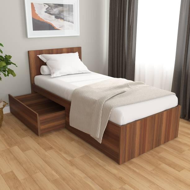 Studio Kook Tribe Left Engineered Wood Single Drawer Bed