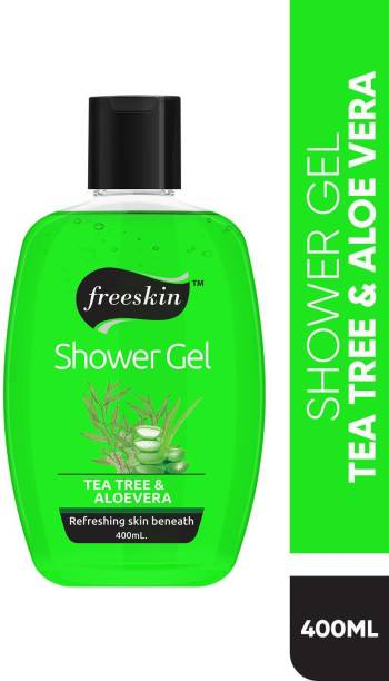 Free Skin Tea Tree and Aloevera Shower Gel for Refreshing Skin Beneath, Enriched With Alovera and Tea Tree Extract, 400ml, PACK OF 1