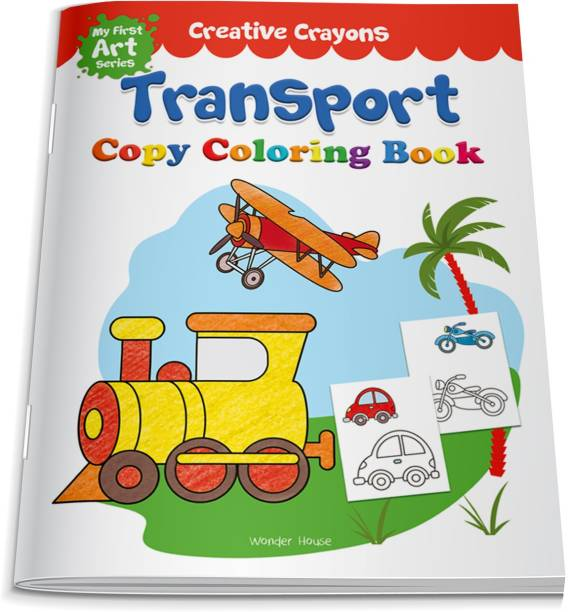 Colouring Book of Transport (Cars, Trains, Airplane and More) - By Miss & Chief