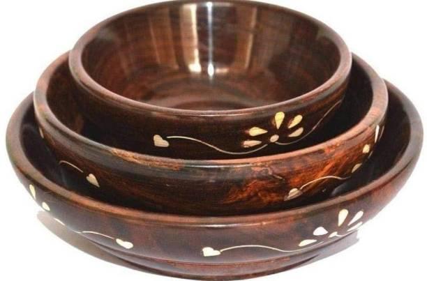 Magic Home Wooden Soup Bowl
