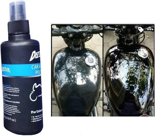 Dazzler Liquid Car Polish for Dashboard, Leather, Metal Parts, Chrome Accent, Headlight, Exterior
