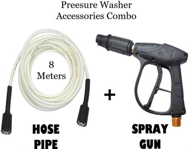 Kuber High pressure Washer Water Spray Gun with Hose Pipe 8 Meters Combo Spray Gun