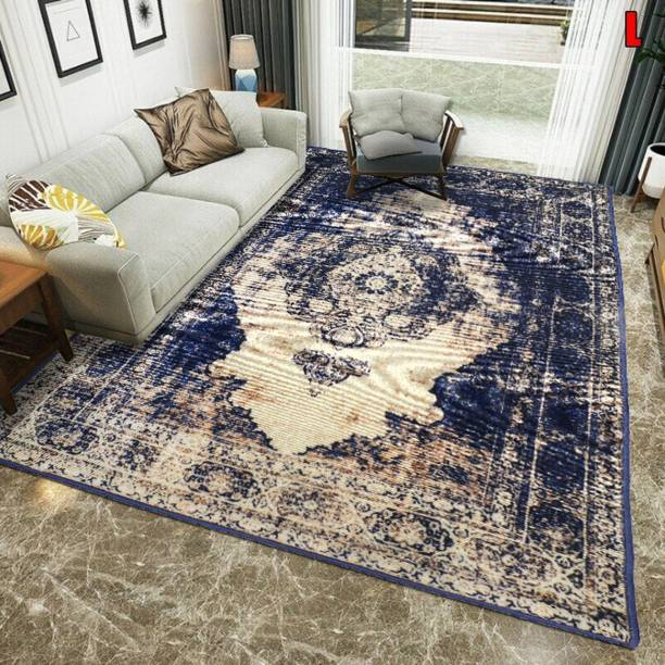 STATUS Blue Polyester Carpet