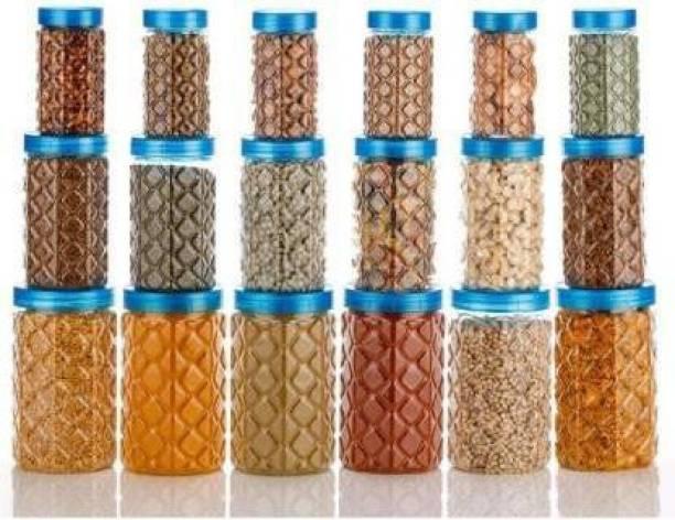 Flipkart SmartBuy HK(18 Pcs)  - 350 ml, 650 ml, 1200 ml Plastic Grocery Container