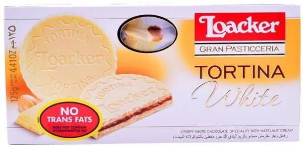 LOACKER Tortina Crispy White Chocolate with Hazelnut Cream Cream Filled