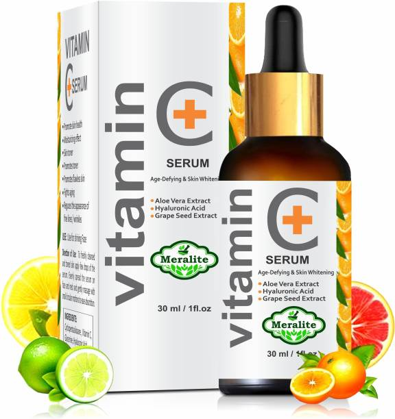 Meralite Vitamin C Serum - Skin Clearing Serum - Brightening, Anti-Aging Skin Repair, Supercharged Face Serum, Dark Circle, Fine Line & Sun Damage Corrector