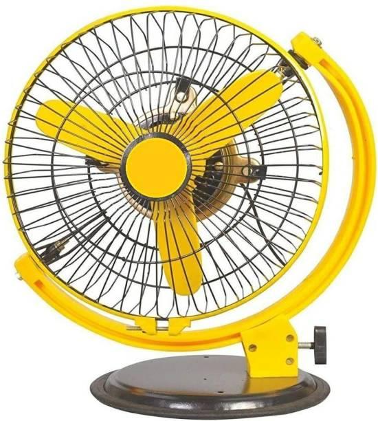 Viyasha 3 Blade High Speed Yellow Multipurpose Table cum Wall Fan 350 mm 3 Blade Wall Fan