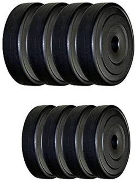 Woody Pro Gym Pvc 8 KG SPARE PVC Black Weight Plate Black Weight Plate