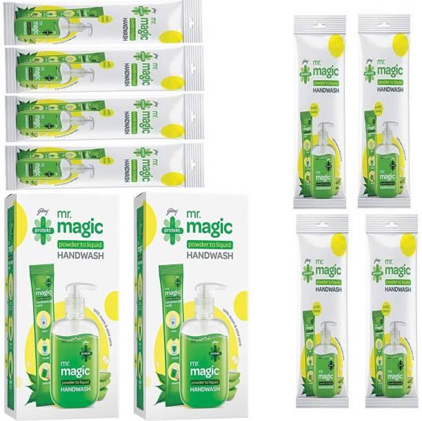 Godrej Magic power liquid hand wash 2 + refill 8 Hand Wash Pump + Refill