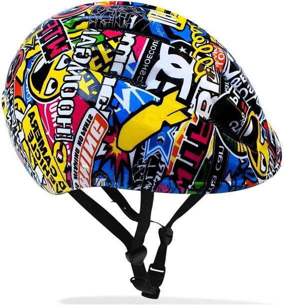 Jaspo Outdoor Sport Bicycle Cycling Helmet for Boys & Girls - Graffiti (Medium) Cycling Helmet