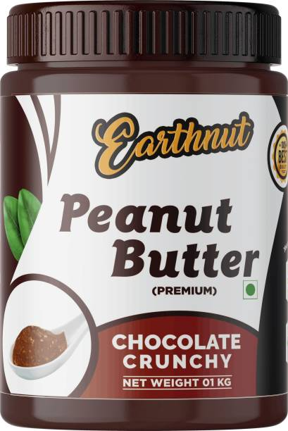 Earthnut Chocolate Peanut Butter Crunchy 1kg (Chocolate Flavor) (Gluten Free   Non-GMO   Vegan) 1 kg