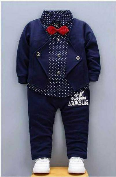 Chhayakar Boys Wedding, Casual, Festive & Party, Formal Shirt, Waistcoat and Pant Set